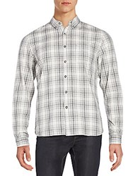 Life After Denim Bistro Casual Button Down Shirt Heather Grey