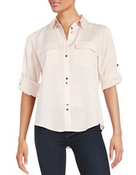 Ivanka Trump Double Button Front Shirt Blush