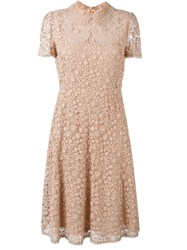 Red Valentino Macrame Lace Dress Nude And Neutrals
