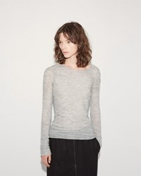 Lost And Found Fine Knit Top Light Grey