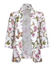 Mela Loves London Floral And Bird Print Jacket Multi Coloured