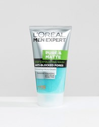 L'oreal Paris Men Expert Pure And Matte Scrub Face Wash 150Ml Multi