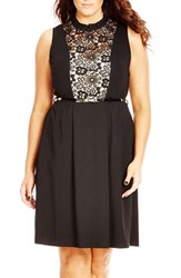 City Chic Plus Size Women's 'Lady Victoria' Fit And Flare Dress