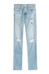 Alexa Chung For Ag Sabine Distressed Jeans Blue