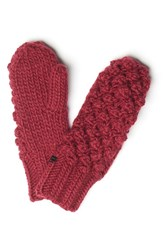 Lole Women's Popcorn Knit Mittens Rumba Red