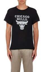 The Elder Statesman X Nba Men's Boston Celtics Logo Cashmere Silk T Shirt Black