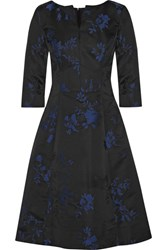 Oscar De La Renta Floral Jacquard Dress Black
