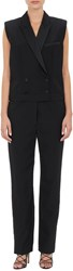 Isabel Marant Milt Double Breasted Tuxedo Jumpsuit Black