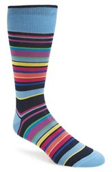 Bugatchi Men's Stripe Socks Night Blue
