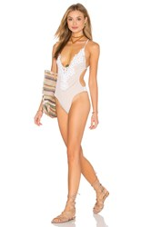 Blue Life Magnolia One Piece Swimsuit White