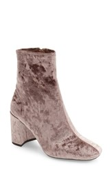 Jeffrey Campbell Women's Cienga Bootie Taupe Crushed Velvet