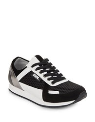 Karl Lagerfeld Grace Lace Up Sneakers Black White