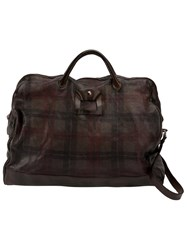 Numero 10 Plaid Zipped Holdall Brown