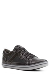 Geox Men's 'U Box' Leather Sneaker Black Oxford Leather