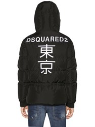 Dsquared Hooded Embroidered Down Jacket