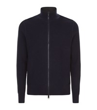 Burberry Full Zip Cardigan Male Navy