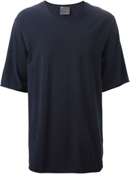 Laneus Raw Edge T Shirt Blue