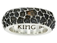 King Baby Studio Lava Rock Textured Band Ring Silver Ring