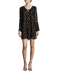 Collective Concepts Lace Up Front Dress Black