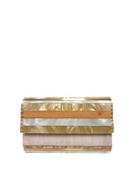Sondra Roberts Mixed Media Clutch Natural