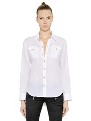 Balmain Cotton Gauze Shirt White