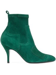 Pierre Hardy 'City Rider' Ankle Boots Green