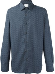 Paul Smith Dotted Button Down Shirt Blue