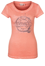 Sublevel Print Tshirt Candy Coral Orange