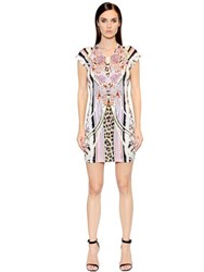 Just Cavalli Floral Printed Techno Jersey Dress