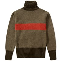Nigel Cabourn Striped Rollneck Green