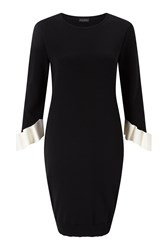 James Lakeland Dress With Frill Sleeves Black
