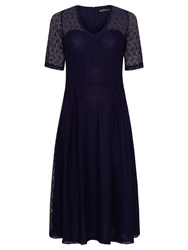 Sugarhill Boutique Imelda Lace Midi Dress Navy
