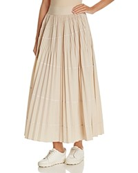 Dkny Accordion Pleat Maxi Skirt Nude