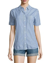 Ag Jeans Easton Short Sleeve Striped Shirt Westward Striped Women's