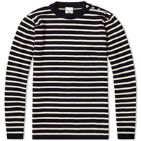Sns Herning S.N.S. Herning Naval Crew Neck Navy Blue And Raw