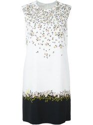 Giambattista Valli Floral Print Crepe Mini Dress White