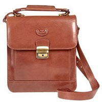 Robe Di Firenze Brown Vegetable Tanned Leather Vertical Briefcase