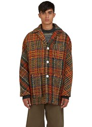 Acne Studios Min Oversized Tweed Jacket Orange