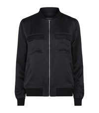 Equipment Abbot Silk Bomber Jacket Female Black