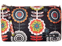 Ju Ju Be Be Quick Wristlet Dancing Dahlias Wristlet Handbags Black