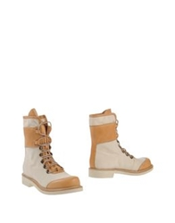 Buttero Ankle Boots Ivory