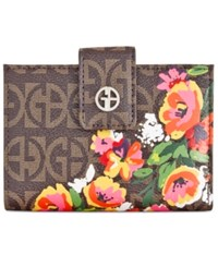 Giani Bernini Butterfly Frame Indexer Wallet Only At Macy's White Block