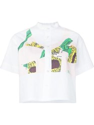 Julien David Sunflower Print Shirt White