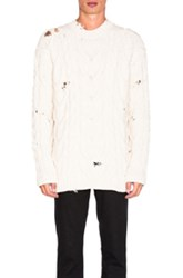 Palm Angels Fisherman Sweater In Neutrals