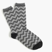 J.Crew Trouser Socks In Chevron Print
