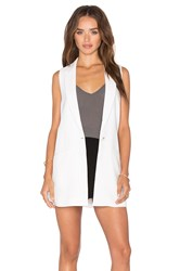 Elizabeth And James Garnet Vest White
