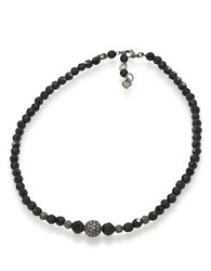 Carolee Faceted Jet Crystal Necklace Black