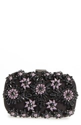 Natasha Couture Crystal Floral Box Clutch Black Black Multi