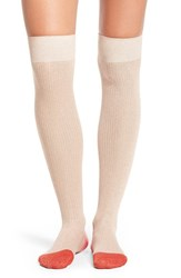 Kate Spade Women's New York Sparkle Ribbed Over The Knee Socks