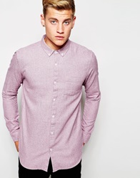 New Look Long Sleeve Flannel Shirt Pink